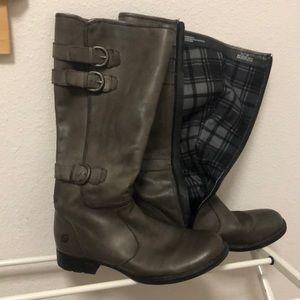 Born gray tall boots